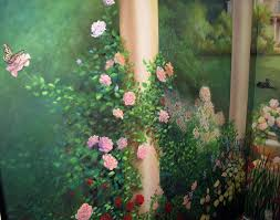 painted vines flowers wall murals google search dream house