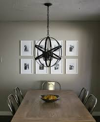 Traditional Dining Room Chandeliers Dining Room Interesting Black Orb Chandelier For Traditional
