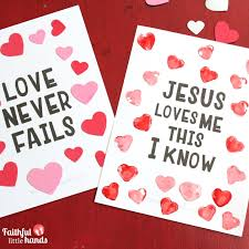 valentine s valentine s day kids bible art 4 ways faithful little hands