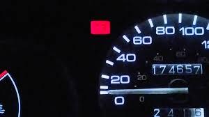1995 honda civic battery light on