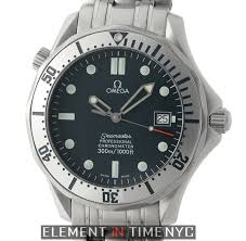 omega seamaster 300m stainless steel blue dial 41mm 2000 element