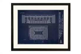 architectural prints of sports stadiums ballpark blueprints allen fieldhouse university of kansas