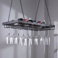 metal hanging wine glass rack wine enthusiast