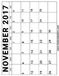 printable calendar page november 2017 november 2017 printable calendar templates
