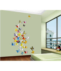 jaamso royals multicolor 3d butterflies pvc multicolour wall jaamso royals multicolor 3d butterflies pvc multicolour wall stickers