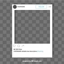instagram layout vector illustrator simple instagram frame template vector free download