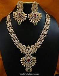 gold stone necklace sets images 1 gram gold stone necklace set south india jewels jpg