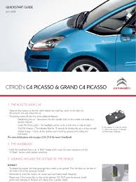 citroen c4 grand picasso quick start guide manual transmission