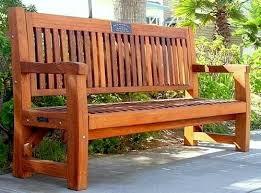 memorial benches commercial grade redwood memorial bench this outdoor bench is