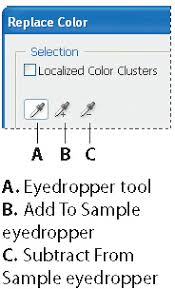 replacing colors in an image in adobe photoshop cs4 u003e replacing