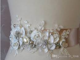 wedding sashes and belts online cheap 2015 new handmade flowers bridal sash belt high