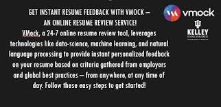 Online Resume Review by Get Instant Resume Feedback U2013 Vmock U2013 Kelleyconnect Kelley