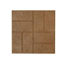 shop rubberific tan rubber square patio stone common 16 in x 16