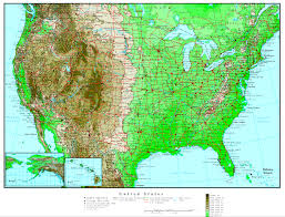 United States Map Missouri by United States Elevation Map