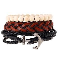 leather bracelet man images 1 set 4pcs charms leather bracelets man pulseras mujer 2017 jpg