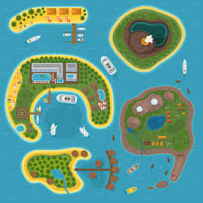 Island Top Island Top View Vector Illustration Illustrations Creative Market