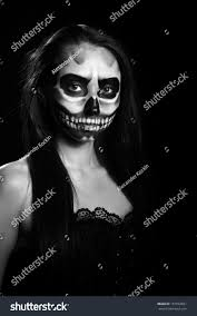 halloween woman mask young woman day dead mask skull stock photo 157962821 shutterstock