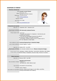 Sample Resume New Format 2015 by 8 Cv Format Sample Pdf Cashier Resumes Curriculum Vitae Samples