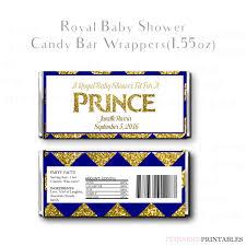royal prince baby shower printable candy wrapper royal prince