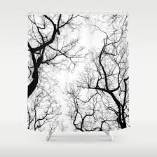 Shower Curtains With Trees Interesting Tree Shower Curtains And Black And White Tree Top