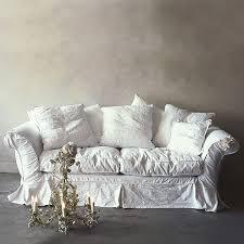 Slipcovered Furniture Sale White Sofa With Slipcover Shabby Chic Feminine Elegance
