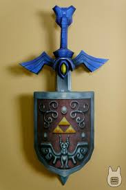 Master Sword Papercraft - otaku crafts wind waker master sword shield wall decoration