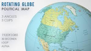 world map globe image rotating globe world map 3 views by vf videohive