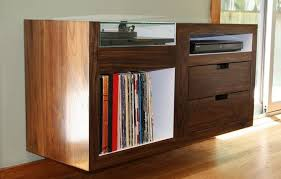 custom floating record player cabinet gorgeous for the home