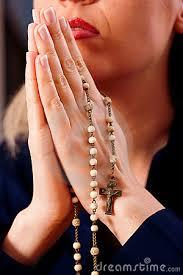 praying rosary rosary