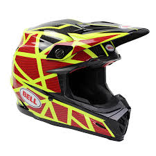 motocross helmets bell new 2017 mx moto 9 carbon flex strapped fluro yellow red