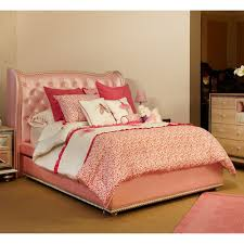 Michael Amini Hollywood Swank Bedroom Hollywood Swank Twin Upholstered Storage Bed In Pink By Aico