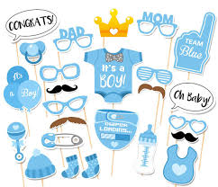 it s a boy decorations baby shower photo booth props its a boy girl paper favors