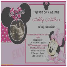 Minnie Mouse Baby Shower Invitations Templates - baby shower invitation awesome free printable minnie mouse baby