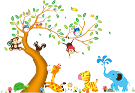 Bedroom Jungle Wall Stickers Popular Large Jungle Wall Stickers Buy Cheap Large Jungle Wall