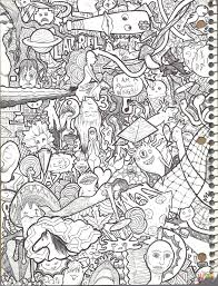 doodle collage 2 by jazzy coloring page free printable coloring