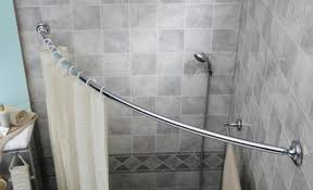 shower decorate with a curved shower curtain rod wonderful