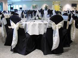 white wedding chair covers black wedding table cloth and chair covers why you chose black