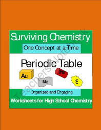 high chemistry periodic table periodic table organized and engaging worksheets for high