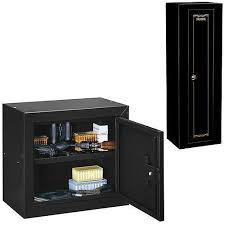 Ammo Storage Cabinet Stack On 10 Gun Security Cabinet With Bonus Pistol Ammo Cabinet