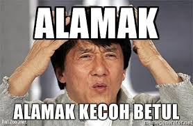 Japanese Meme - did you know the malay expression alamak is also used by the