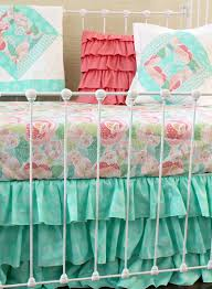 mint mosaic bumperless baby bedding set lottie da baby baby