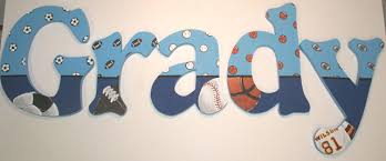themed letters sports themed wall letters