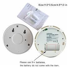 tegollus combination smoke and carbon monoxide detector alarm with