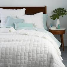belgian flax linen bedspread pillowcases west elm uk