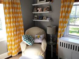 Yellow Nursery Curtains Baby Nursery Baby Nursery Room Decorating Idea With Cozy Beige
