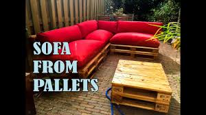 How To Make Patio Furniture Out Of Pallets by How To Make A Pallet Sofa Step By Step W Manual Diy Easy