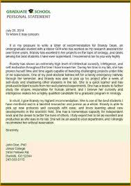 brilliant ideas of personal recommendation letter for grad