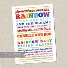 2nd baby shower ideas rainbow baby shower invitation somewhere the rainbow poem