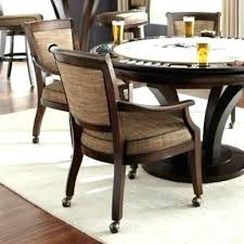 dinette table and chairs with casters dining room sets with chairs on casters dining room chairs with