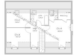 plan etage 4 chambres plan maison etage 4 chambres gratuit 1 plans de maisons